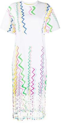 Mira Mikati Zig Zag Print Shift Dress