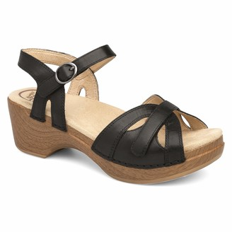 Dansko Women's Season Black Sandal 6.5-7 M US