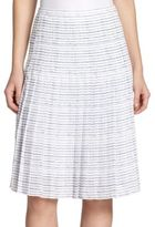 Vince Pleated Stripe Skirt