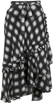 Preen by Thornton Bregazzi ruffled checked skirt