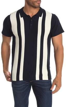 Jack and Jones Striped Short Sleeve Knit Polo