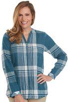 Woolrich Women's Spring Fever Plaid Roll-Tab Shirt