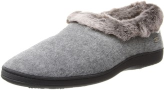 Acorn Women's Chinchilla Collar Wide Slipper