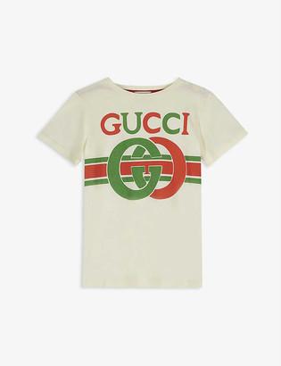 Gucci GG insignia logo cotton T-shirt 4-10 years