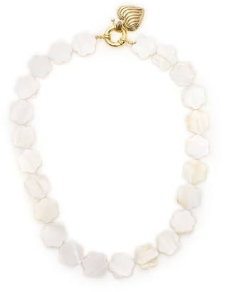Mother of Pearl Timeless Pearly Mother-of-pearl Flower Necklace