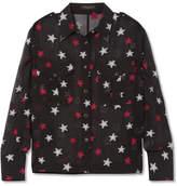 Rag & Bone Pearson Fil Coupé Silk-blend Chiffon Shirt - Black