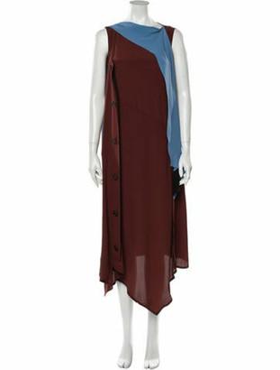 Marni Striped Long Dress w/ Tags Brown