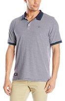 Lrg Men's Resolution Striped Short Sleeve Polo Shirt