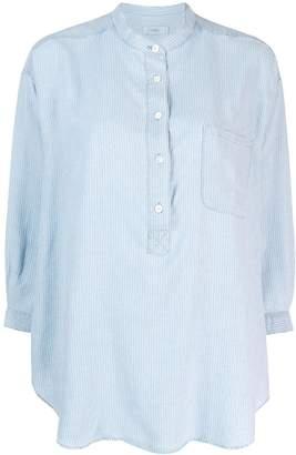 Closed grandad collar tunic shirt