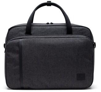 "Herschel Gibson 15"" Laptop Messenger Bag Black Crosshatch"