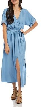Karen Kane Belted Denim Dress