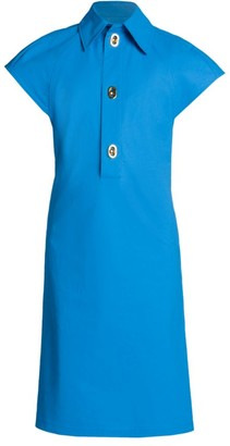 Bottega Veneta Technical Coated Toile Shirtdress