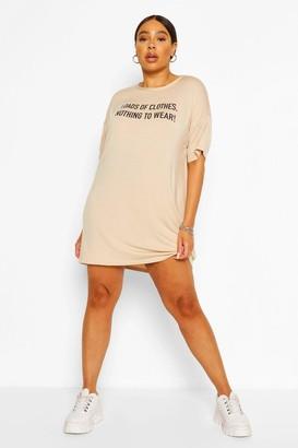 boohoo Plus Nothing To Wear T-Shirt Dress