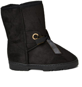 Chatz By Chatties Chatz by Chatties Women's Cold Weather Boots Black - Black Bow-Accent Boot - Women