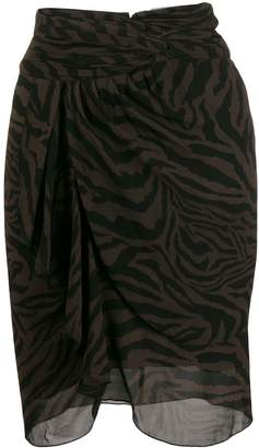 BA&SH Scarlett zebra print skirt