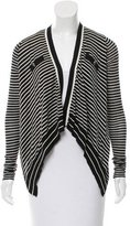 Barbara Bui Striped Silk Cardigan