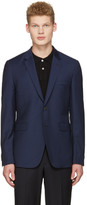 Paul Smith Navy Wool Check Blazer