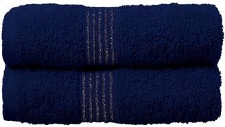 Silentnight Lurex 2 Pack Hand Towels