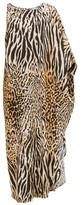 Melissa Odabash Pamela Asymmetric Leopard-print Maxi Dress - Womens - Animal
