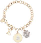 Liz Claiborne White Charm Bracelet