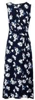 Dorothy Perkins Womens *Izabel London Navy Ruched Front Midi Dress, Navy