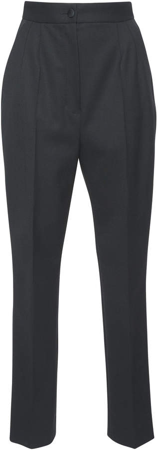 Dolce & Gabbana Cropped Wool-Blend Crepe Slim-Leg Pants