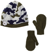 Little Me Camo Beanie & Mittens Set (Baby Boys)