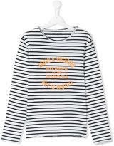 Zadig & Voltaire Kids Teen striped print top