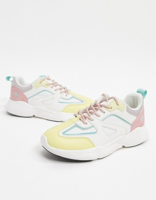 ASOS DESIGN Dominican chunky sneakers in pastel mix