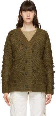 ANDERSSON BELL Brown and Green Oversized Cardigan
