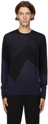 Neil Barrett Navy and Black Modernist Sweater