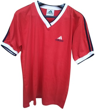 adidas Red Cotton T-shirts