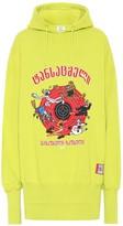 Vetements Printed oversized cotton hoodie