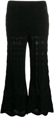 Twin-Set Scalloped Lace Knitted Trousers