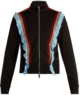 Marco De Vincenzo Ruffled zip-through knit jacket