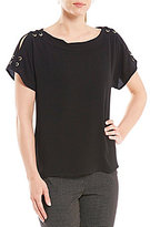 Investments Grommet Shoulder Top