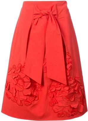 Josie Natori 3D embroidered skirt