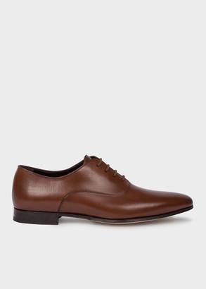 Men's Dark Tan 'Fleming' Calf Leather Oxford Shoes