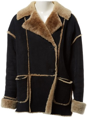 N. Non Signé / Unsigned Non Signe / Unsigned \N Black Shearling Coats