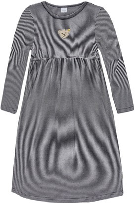 Steiff Girl's 0006568 Nightdress 1/1 Sleeves Long Top Blue Marine 5 Years (Size:110)