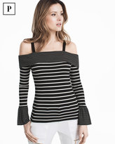 White House Black Market Petite Striped Off-the-Shoulder Top
