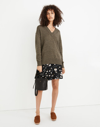 Madewell Donegal Bartlett V-Neck Pullover Sweater in Coziest Yarn