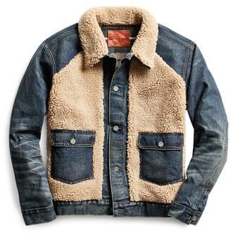 Ralph Lauren Fleece-Panelled Denim Jacket