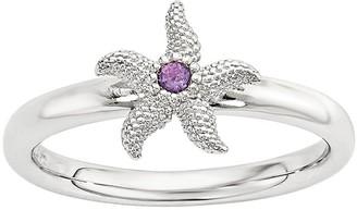 Simply Stacks Sterling Gemstone Starfish Ring