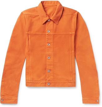 Rick Owens DRKSHDW Slim-Fit Denim Jacket - Men - Orange