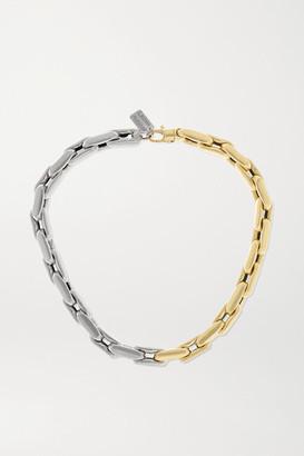 LAUREN RUBINSKI Medium 14-karat Yellow And White Gold Necklace - one size