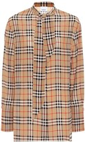 Burberry Check silk blouse