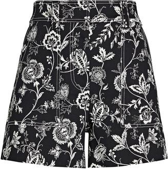 Derek Lam 10 Crosby Odette Floral Cotton Shorts