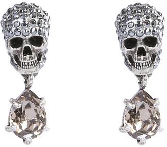 Alexander McQueen Skull Stone Earrings