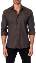 Jared Lang Pinstripe Long Sleeve Semi-Fitted Shirt
